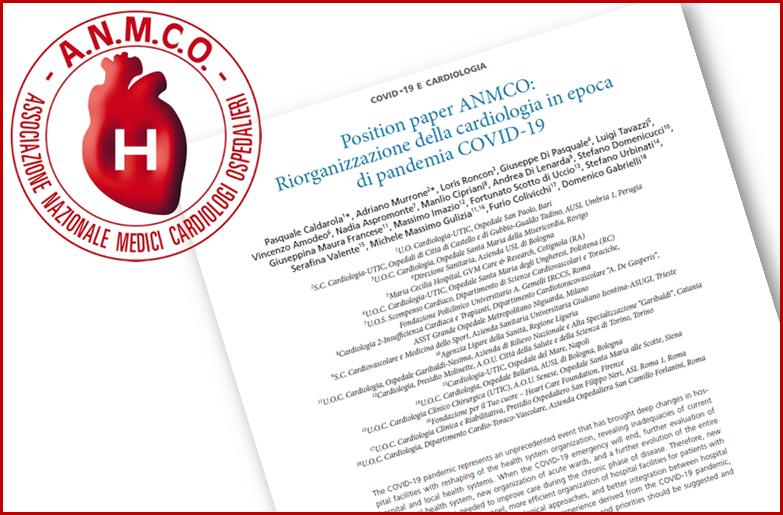 La riorganizzazione della Cardiologia in epoca di pandemia da SARS-CoV-2 –Il Position Paper ANMCO